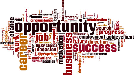 opportunity concept: Opportunity word cloud concept. Vector illustration