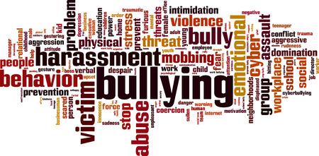 acoso laboral: Palabra Bullying concepto de nube. Ilustraci�n vectorial Vectores