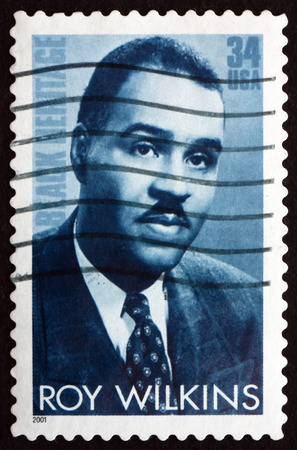 civil rights: USA  CIRCA 2001: a stamp printed in the USA shows Roy Wilkins Civil Rights Leader Black Heritage circa 2001