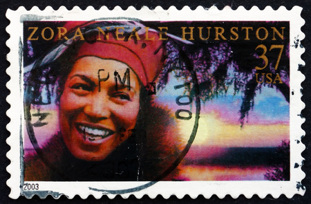 anthropologist: USA - CIRCA 2003: a stamp printed in the USA shows Zora Neale Hurston, American Writer, Folklorist and Anthropologist, circa 2003