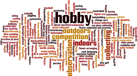 hobby: Hobby word cloud concept. Vector illustration