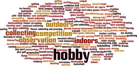 Hobby parola concetto di cloud. Illustrazione vettoriale Vettoriali