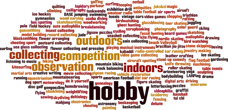 avocation: Hobby word cloud concept. Vector illustration