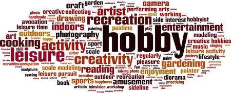 hobbyist: Hobby word cloud concept. Vector illustration