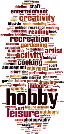 sideline: Hobby word cloud concept. Vector illustration