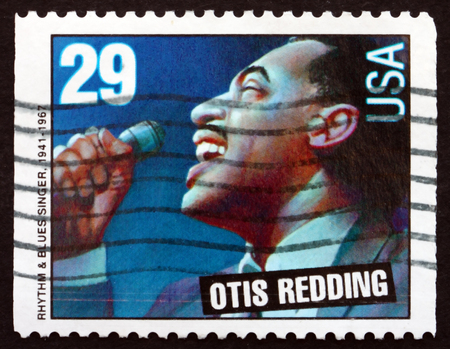 USA - CIRCA 1993: a stamp printed in the USA shows Otis Redding, American Singer and Songwriter, circa 1993