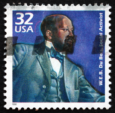 sociologist: USA - CIRCA 1998: a stamp printed in the USA shows W. E. B. Du Bois, Social Activist, Sociologist and Historian, circa 1998 Editorial