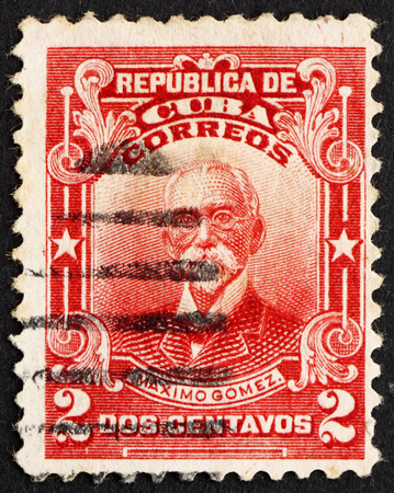 maximo: CUBA - CIRCA 1911: a stamp printed in the Cuba shows Maximo Gomez, General, circa 1911