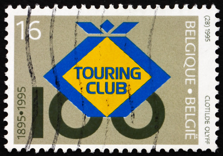 centenary: BELGIUM - CIRCA 1995: a stamp printed in the Belgium shows Belgian Touring Club, Centenary, circa 1995