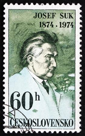 josef: CZECHOSLOVAKIA - CIRCA 1974: a stamp printed in the Czechoslovakia shows Josef Suk, Czech Composer and Violinist, circa 1974