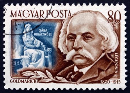 karl: HUNGARY - CIRCA 1953: a stamp printed in the Hungary shows Karl Goldmark, Hungarian Composer, circa 1953 Editorial