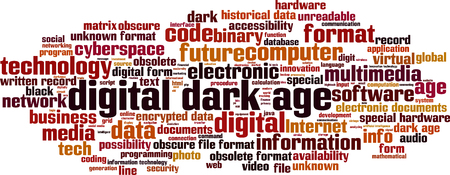 obscure: Oscuro concepto de nube de palabras era digital. Ilustraci�n vectorial Vectores