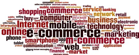 instant messaging: Electronic commerce word cloud concept. Vector illustration Illustration