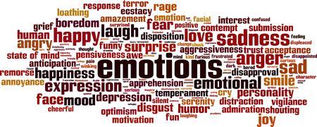 pensiveness: Emozioni nuvola concetto di parola. Illustrazione vettoriale