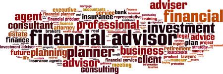 financial concept: Financial advisor word cloud concept. Vector illustration