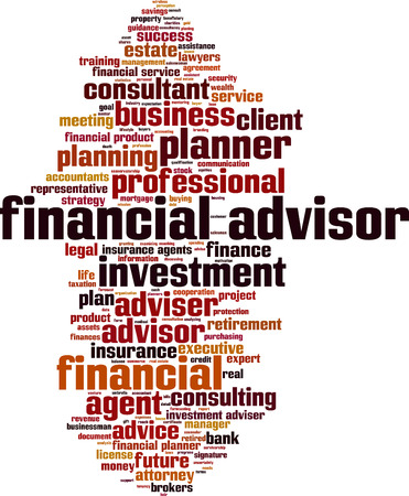tax attorney: Financial advisor word cloud concept. Vector illustration