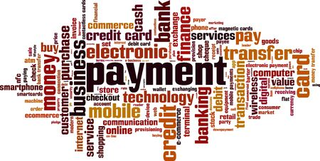 Payment word cloud concept. Vector illustration Illustration