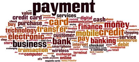 barter: Payment word cloud concept. Vector illustration Illustration