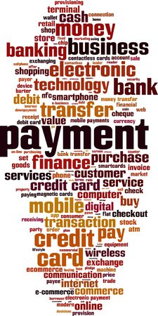 payee: Payment word cloud concept. Vector illustration Illustration