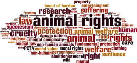 abolitionist: Animal rights word cloud concept. Vector illustration Illustration