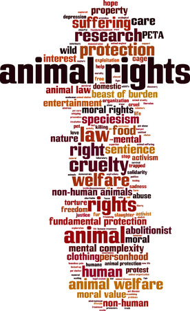 Animal rights word cloud concept. Vector illustration Illustration
