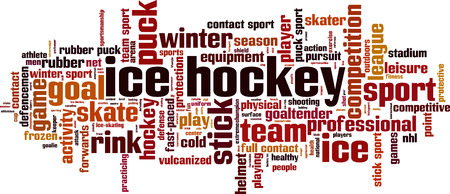 forwards: Ice hockey word cloud concept. Vector illustration