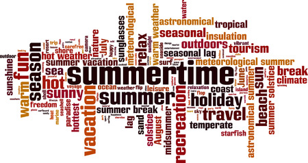 temperate: Summertime word cloud concept. Vector illustration