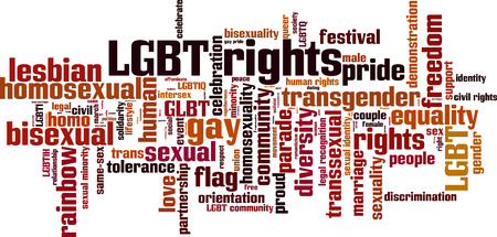 trans gender: LGBT rights word cloud concept. Vector illustration