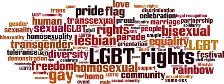 transsexual: Derechos LGBT concepto de nube de palabras. Ilustraci�n vectorial