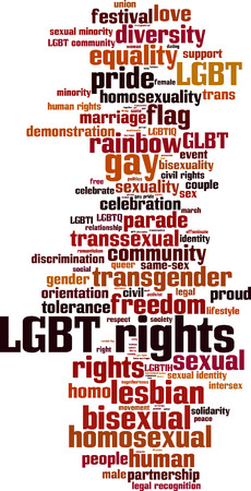 civil partnership: LGBT rights word cloud concept. Vector illustration