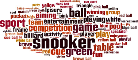 cue ball: Snooker word cloud concept. Vector illustration