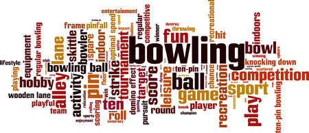 Bowling word cloud concept. Vector illustration