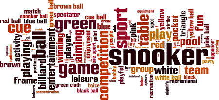 snooker: Snooker word cloud concept. Vector illustration