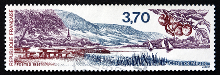 meuse: FRANCE - CIRCA 1987: a stamp printed in the France shows Meuse District, Located in Northeast France, Named after the River Meuse, circa 1987