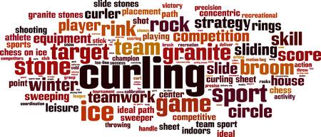 Curling word cloud concept. Vector illustration