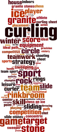 curling stone: Curling word cloud concept. Vector illustration