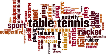 backhand: Table tennis word cloud concept. Vector illustration