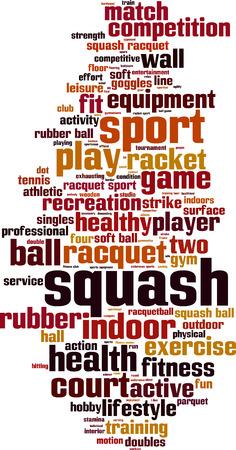 squash: Squash word cloud concept. Vector illustration