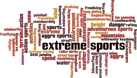 rallying: Los deportes extremos concepto de nube de palabras. Ilustraci�n vectorial Vectores