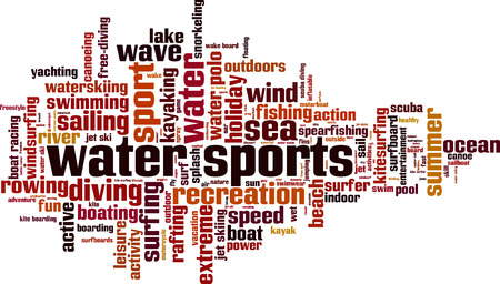 water sports: Water sports word cloud concept. Vector illustration Illustration