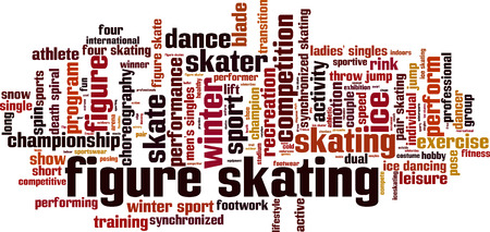 footwork: Figure skating word cloud concept. Vector illustration