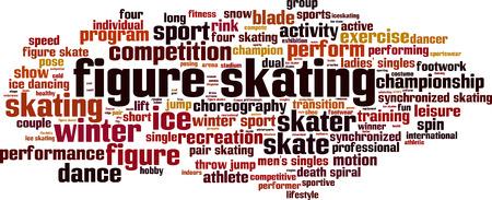 Figure skating word cloud concept. Vector illustration