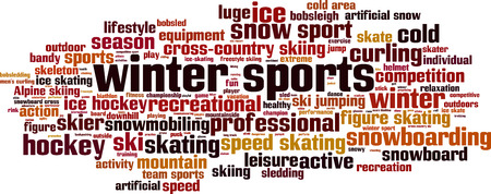 winter sports: Winter sports word cloud concept. Vector illustration
