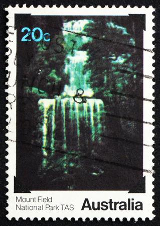 australia stamp: AUSTRALIA - CIRCA 1979: a stamp printed in the Australia shows Mount Field, National Park, Tasmania, circa 1979 Editorial