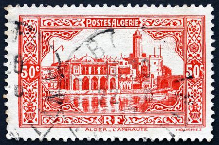 algiers: ALGERIA - CIRCA 1936: a stamp printed in Algeria shows Admiralty Building, Algiers, circa 1936 Editorial