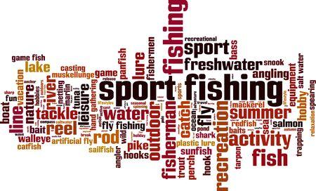 sport fishing: Sport fishing word cloud concept. Vector illustration