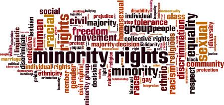 少数の権利は単語クラウドのコンセプトです。ベクトル図  イラスト・ベクター素材