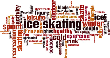 figure skating: Ice skating word cloud concept. Vector illustration