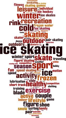 patinaje sobre hielo: Patinaje sobre hielo en concepto de nube de palabras. Ilustraci�n vectorial Vectores
