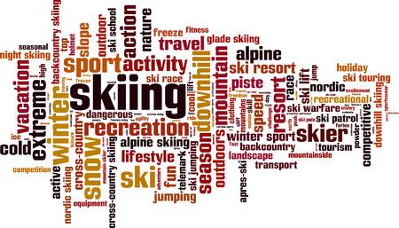 スキーの単語の雲の概念。ベクトル図  イラスト・ベクター素材